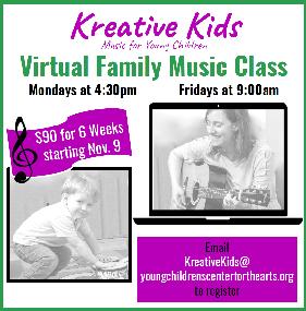 Kreative Kids Virtual Family Music Class