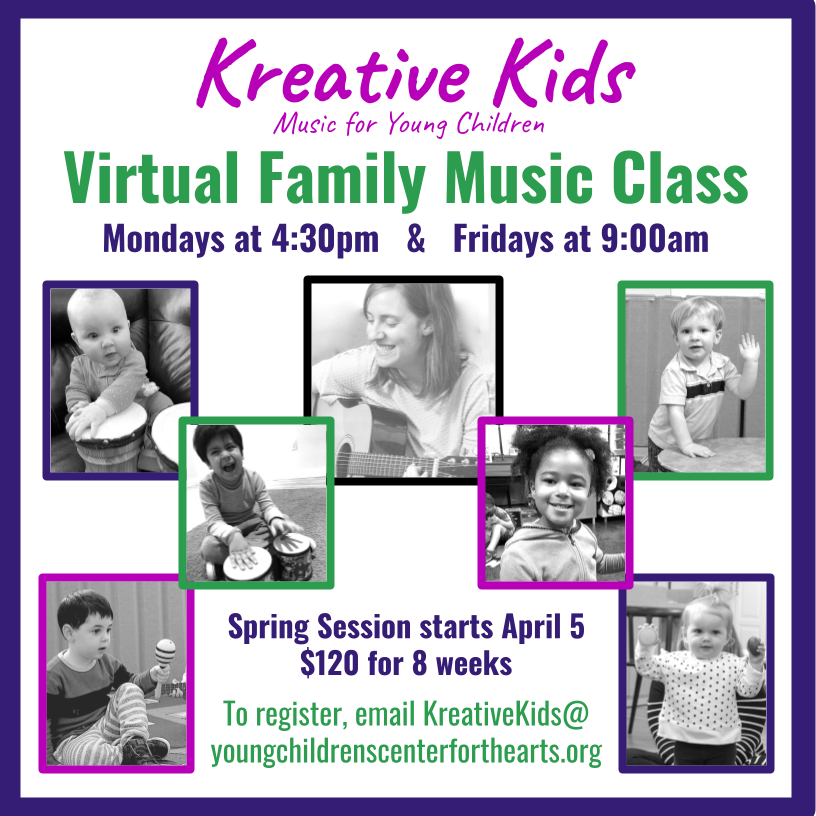Kreative Kids Virtual Family Music Class